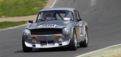 Racing TR6 at Brands Hatch